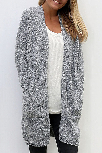 Collarless  Snap Front  Assorted Colors Cardigans