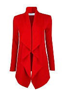 Lapel  Patch Pocket  Plain Coat