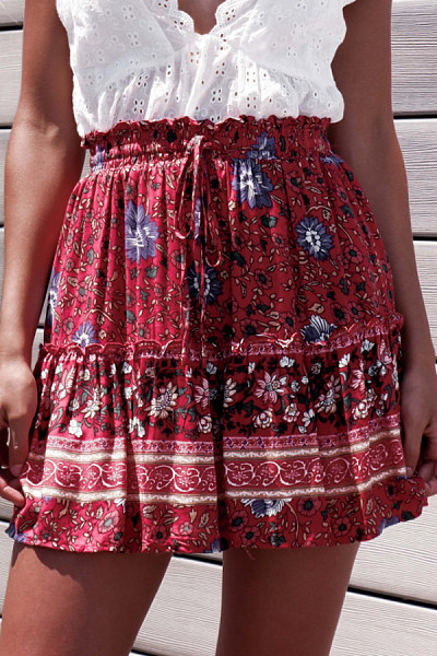 Fitted  Printed Basic Skirts