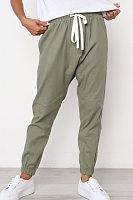 Drawstring  Plain  Casual  Pants