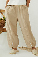 New solid color loose casual pants