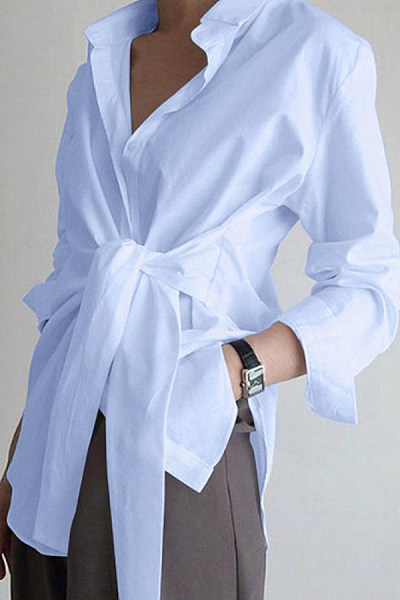 Knot Loose Casual LongBlouse