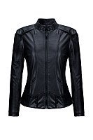 Band Collar  Zips  Plain Biker Jackets