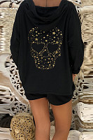 Hooded  Loose Fitting  Animal Prints Hoodies