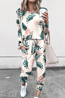 Casual Printed Loose Long Set Combination
