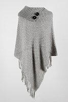 Fashion Irregular Half Open Collar Solid Color Hooded Tassel Sweater