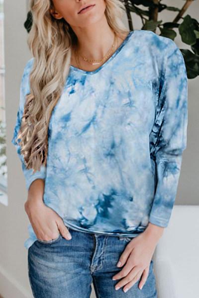Tie-dye Printed Long Sleeve T-shirt