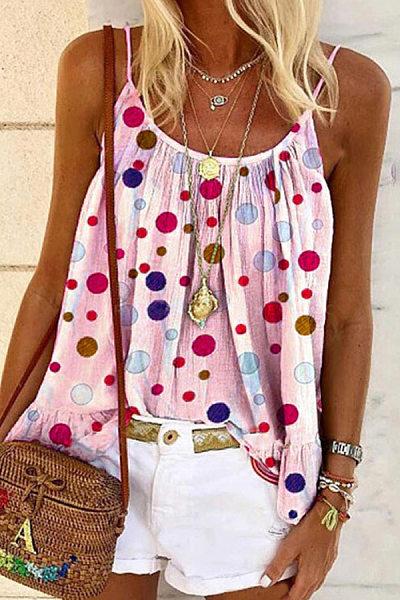 Polka Dot Casual Camisole