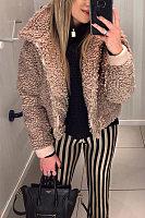 A Lapel Long Sleeve Jacket