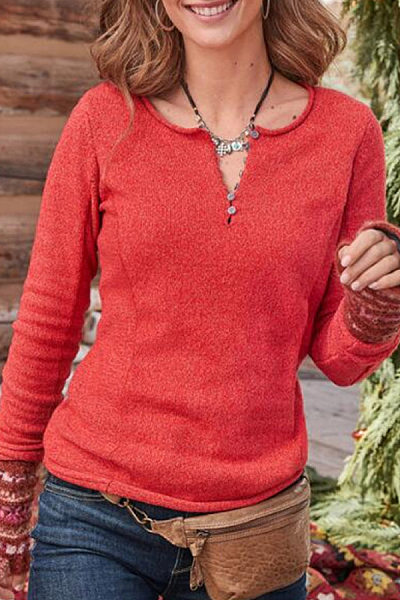 Women's Nordic Style Fashion Long-Sleeve T-Shirt