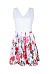 V Neck  Printed  Sleeveless  Basic Skater Dresses