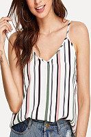 Casual And Loose Striped Sleeveless T-Shirt