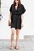 Deep V Neck  Belt  Plain  Short Sleeve Casual Dresses
