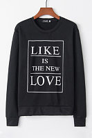 Round Neck Letters Casual Hoodies
