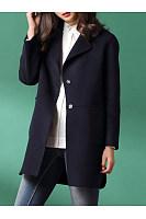 Notch Lapel  Patch Pocket  Plain Coat