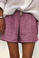 Fashion pinstripe shorts