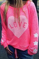 Round Neck Long Sleeve Casual Sweatshirt