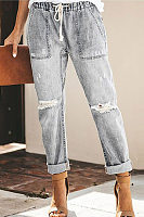 Casual Street Hipsters Straight Pants Women