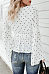 Deep V Neck  Polka Dot Blouse