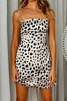 Spaghetti Strap  Leopard Printed  Sleeveless Bodycon Dresses