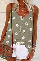 small daisy flower camisole shirt women