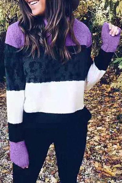 Round Neck Long Sleeve Colouring Sweatshirt