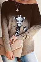 Fashion Print Long Sleeve Top