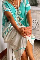 Women's Contrast Color Loose Casual Dress