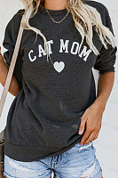 Crew Neck  Letters Casual  Sweatshirts