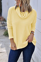 Cowl Neck  Plain T-Shirts