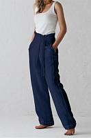 Women's casual lace-up trousers