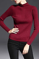 Basic High Neck Sweaters