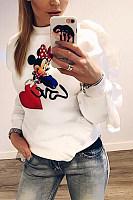 Round Neck  Animal Prints  Sweatshirts