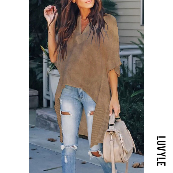 Camel Fashion Casual Pure Color Loose T-Shirts Camel Fashion Casual Pure Color Loose T-Shirts