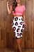 Sheath  Printed  Basic Skirts