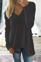 V-Neck Asymmetric Hem Sweaters