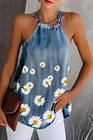 Womens Summer Daisy Sleeveless Tank