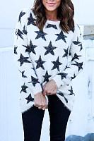 Round Neck  Geometric Sweaters