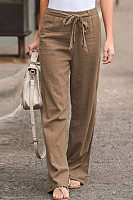 Spring Summer Cotton and Linen Casual Pants