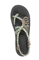 Color Block  Flat  Peep Toe  Casual Flat Sandals