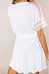 V Neck  Plain  Short Sleeve Skater Dresses