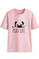 Round Neck Short Sleeve Dog T-shirt