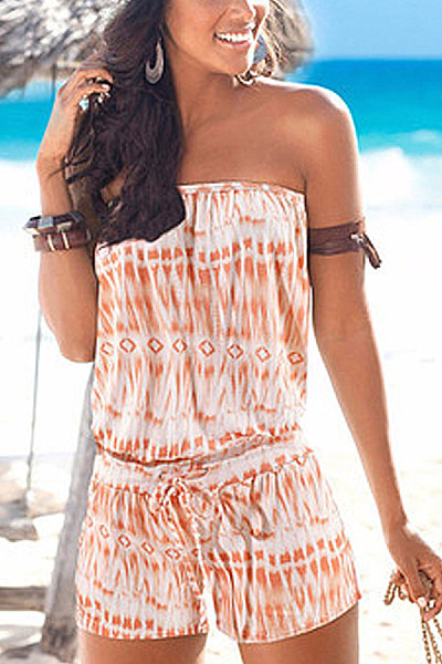 Tube top sleeveless solid color jumpsuit