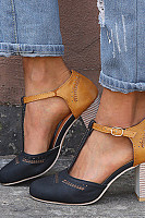 High Heeled  Platform Sandals