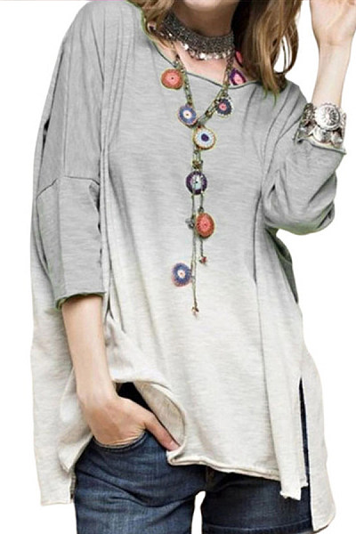 Women's Casual Round Neck Long Sleeve T-Shirt