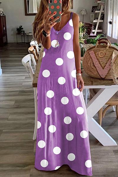 2020 Summer Polka-dot Maxi Dress