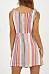 Spaghetti Strap  Single Breasted  Striped  Sleeveless Bodycon Dresses