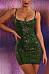 Spaghetti Strap  Glitter  Plain  Sleeveless Bodycon Dresses
