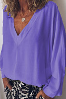 Deep V Neck  Plain T-Shirts