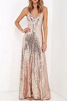 Spaghetti Strap  Backless  Glitter Party Dresses